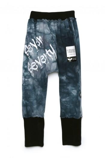 Designed Blue Tie Dye  Kids Baggy Pants SEVEN