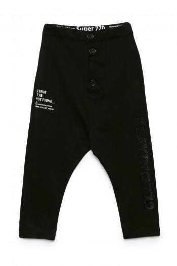 Designed Kids Black Baggy Elegant Pants PLAYING
