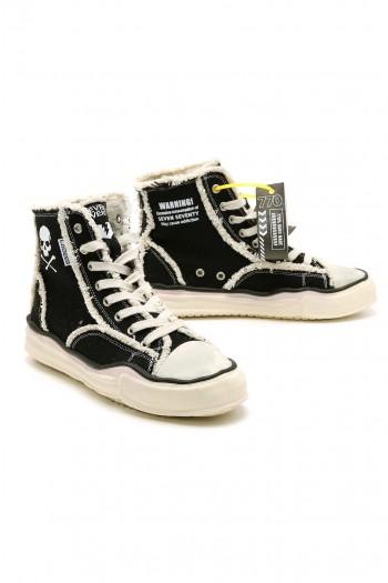 Black High Cut Sneakers WARNING