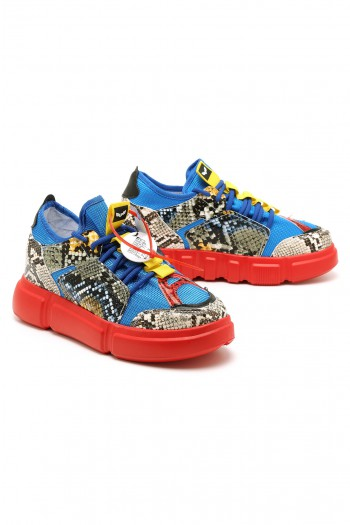 Red And Blue Hidden Heel Sneakers LIMITED