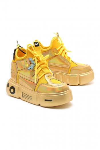 Metallic Gold Hidden Heel Sneakers LIMITED