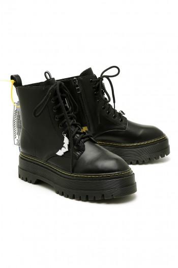 Black High Cut Boots BLACK