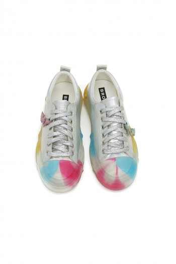 Silver Colorful Sneakers RAINBOW