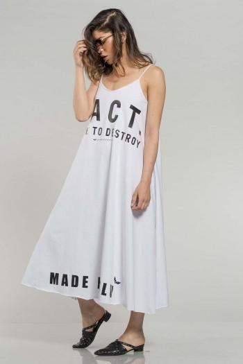 White Sleeveless Dress FACT