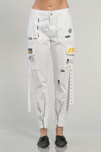 White Cargo Pants MAGIC