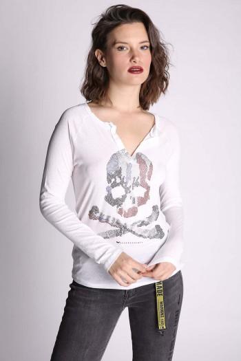 White Shirt SKULL