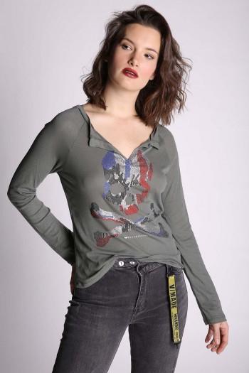 Olive Color Shirt SKULL
