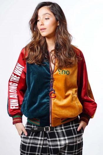 Multicolor Velvet Jacket FUN
