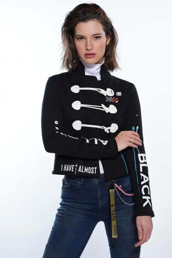 Black Pullover Jacket BLACK