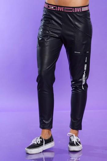 Black Pants Leather Look LOVE