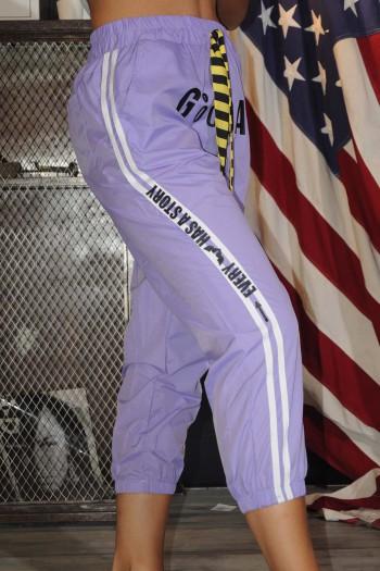 Designed purple Nylon Pants GOOD DAY