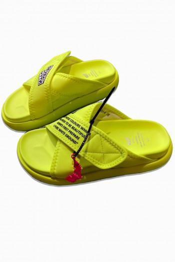 Neon Yellow Color Designed Slides X