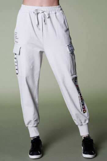 Designed Beige Pullover Joggers PLAYING