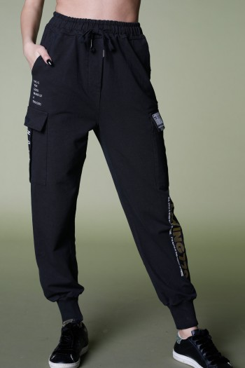 Designed Black  Pullover Joggers PLAYING
