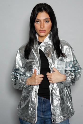 Silver Wind Breaker Jacket HAND MADE