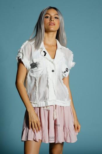 Bottoned Ivory White Vest Top ORIGINAL