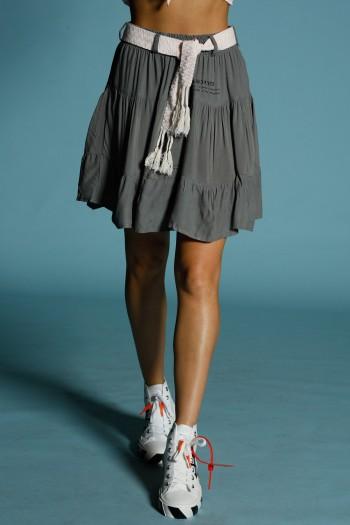 Dark-Grey-Green Designed Skirt HAND MADE