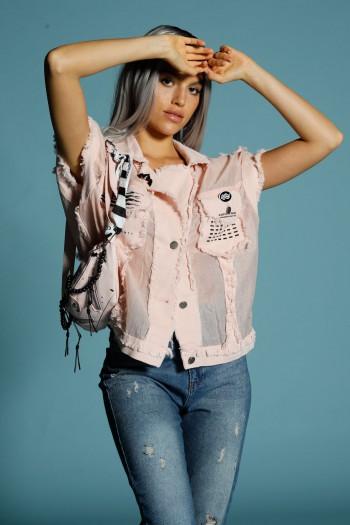 Bottoned Pink Vest Top ORIGINAL