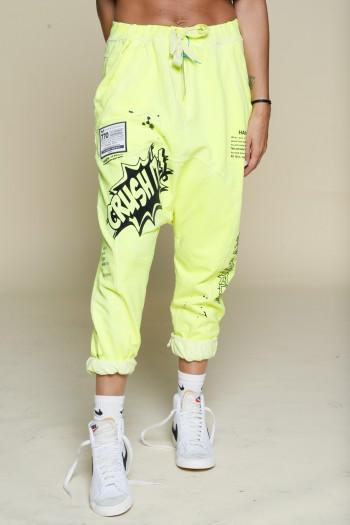 Neon Yellow Jogger Pants CRUSH