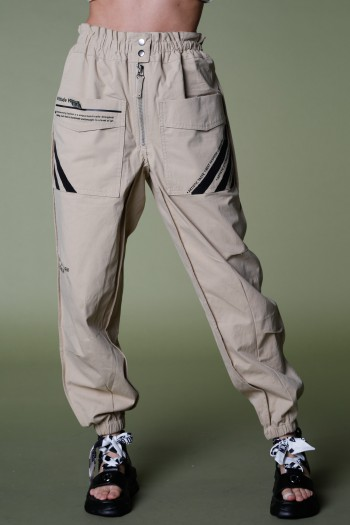 Designed Khaki Cargo Style Pants ATTITUDE