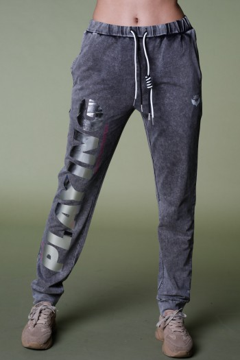 Designed Washed Gray  Pullover Joggers PLAYING