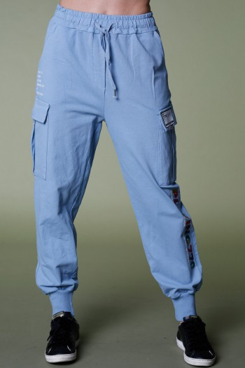 Designed Light Blue Pullover Joggers PLAYING