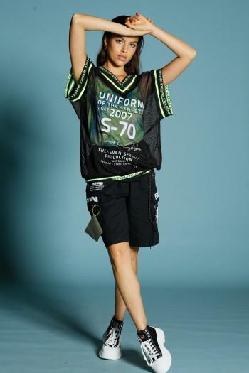 Black Nett Top with Tie Dye Undershirt set UNIFORM