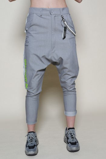 Designed Gray Baggy Pants  ADDICTED