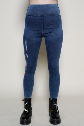 Designed  Blue Denim  Leggings Pants PLAYING