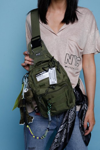 Designed Olive Green Hand Bag  NYC