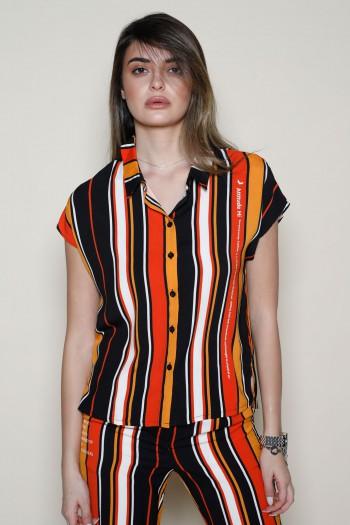 Orange Stripe Colors Two Piece Set ATTITUDE