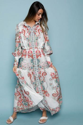 Colorful Print Boho Style Maxi Dress FIND