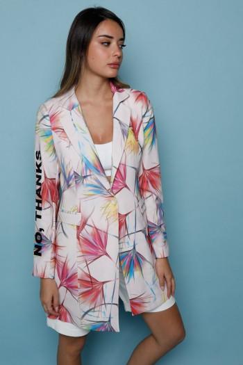 Colorfull Pink Long Sleeve Blazer Jacket LEVEL
