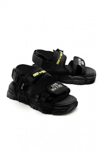 Black Color Sandals BKLYN