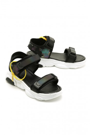 Black Color Sandals LIMITED