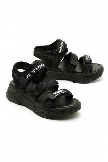 Black  Sandals YOURSELF