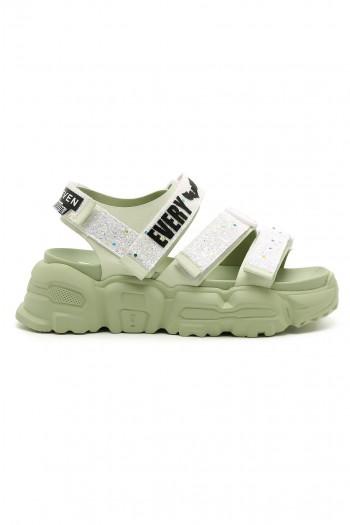 White-Mint Color Sandals STORY