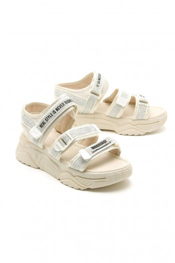 Off White Color Sandals YOURSELF