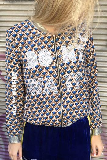 Colorful Designed Retro Style Jacket DON'T WAIT