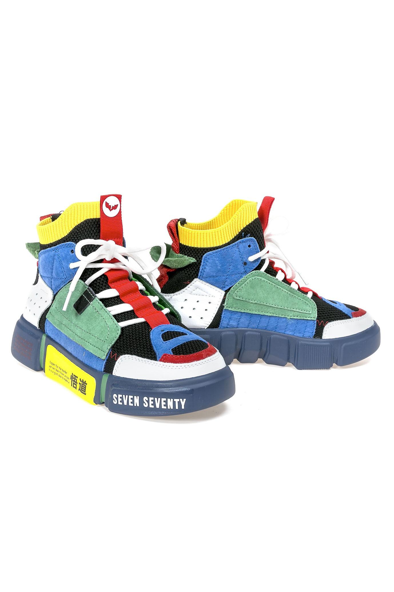 High Top Multicolor Sneakers MULTICOLOR